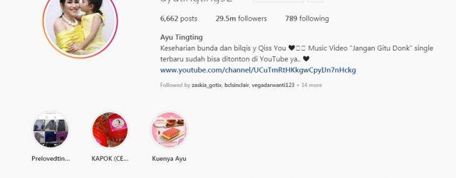 01 artis indonesia dengan follower instagram terbanyak - ayu ting ting