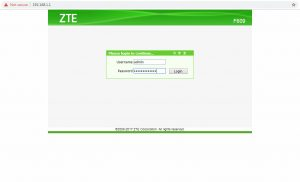 Cara Merubah Password Modem ZTE F609 - 02 user password