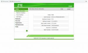 Cara Merubah Password Modem ZTE F609 - 03 menu