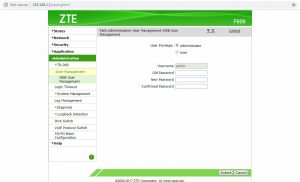 Cara Merubah Password Modem ZTE F609 - 04 User Management