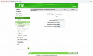 Cara Merubah Password Modem ZTE F609 - 05 Ganti Password