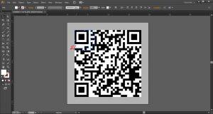 06 cara merubah qr code jpg menjadi vektor - klik object