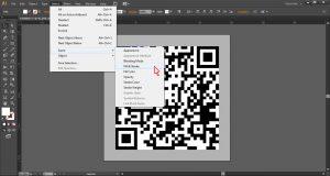 07 cara merubah qr code jpg menjadi vektor - fill & stroke