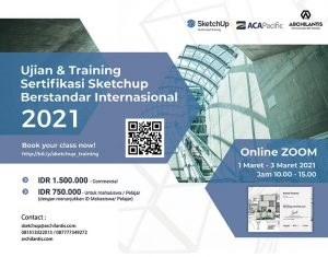 International SketchUp Training & Certification 2021 - ACA Pacific Archilantis Sketchup Authorized Training